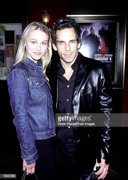 Newlyweds Ben Stiller and Christine Taylor attend the premiere of 'Shaft' June 12 2000 in New York City