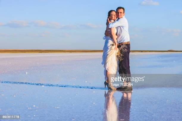 Newlyweds in Salt lake