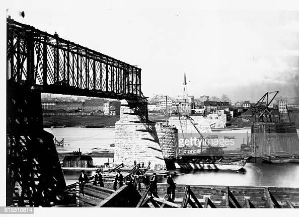Newport and Cincinnati Railroad and Wagon Road Bridge Cincinnati Ohio November 27 1870