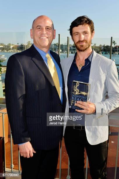 Newport Beach Film Festival Exectuive Director/CEO Gregg Schwenk and actor Eoin Macken attend the Newport Beach Film Festival Honors at the Balboa...