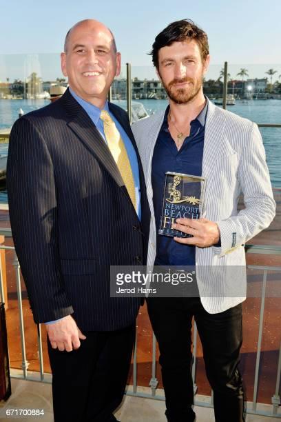 Newport Beach Film Festival Executive Director/CEO Gregg Schwenk and actor Eoin Macken attend the Newport Beach Film Festival Honors at the Balboa...