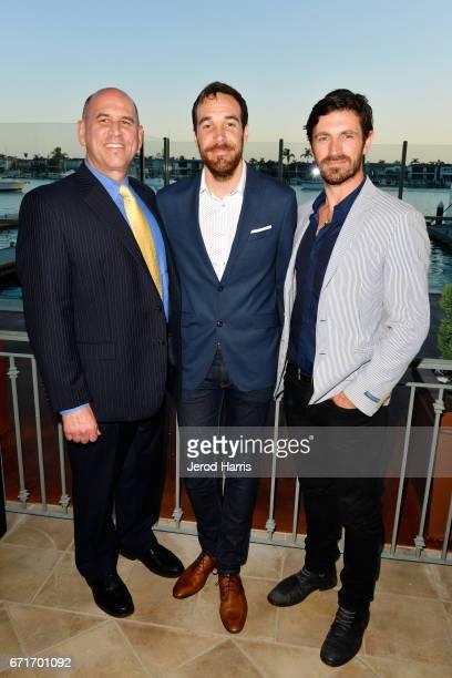 Newport Beach Film Festival Executive Director/CEO Gregg Schwenk Nat Sanders and Eoin Macken attend the Newport Beach Film Festival Honors at the...