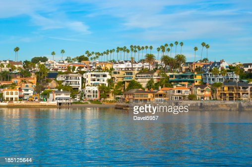 Newport Beach houses and bay