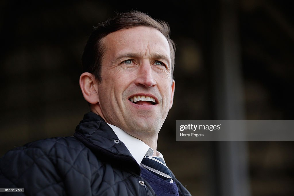 Newport County manager Justin Edinburgh looks on prior to the Blue Square Bet Premier Conference Play-off second leg match between Newport County A.F.C. and Grimsby Town at Rodney Parade on April 28, 2013 in Newport, Wales.