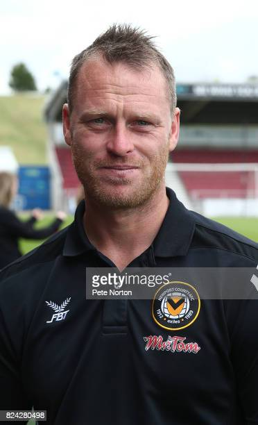 Newport County manager Michael Flynn looks on prior to the PreSeason Friendly match between Northampton Town and Newport County at Sixfields on July...