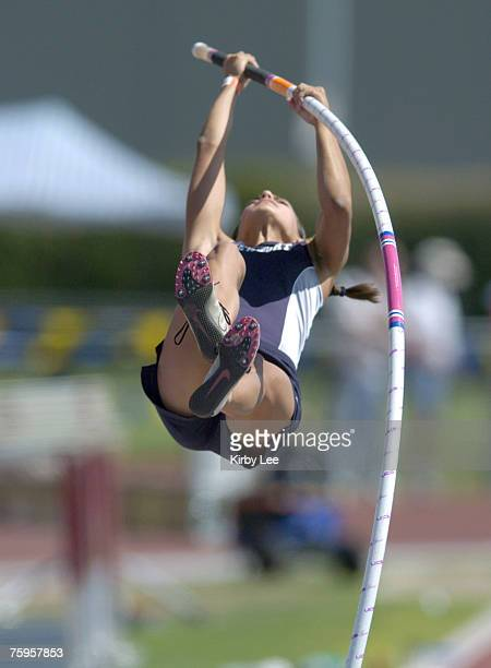 Newport Harbor High freshman Allison Stokke won the girls pole vault at 128 in the CIF State Track Field Championships at Sacramento City College's...
