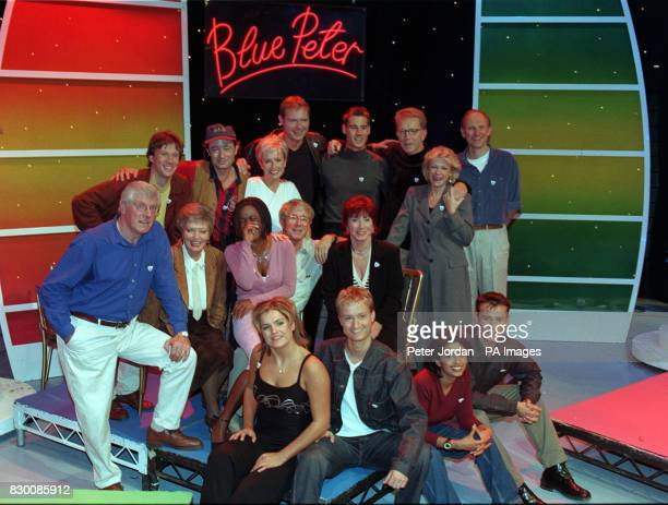 PA News 16/10/98 Past and present 'Blue Peter' presenters gathered to mark to programme's 40th anniversary Peter Duncan Christopher Wenner Sarah...