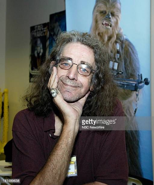 NBC News 2008 National Big Apple Comic Book Art Toy SciFi Expo Pictured Actor Peter Mayhew known for playing the Wookiee Chewbacca in the 'Star Wars'...