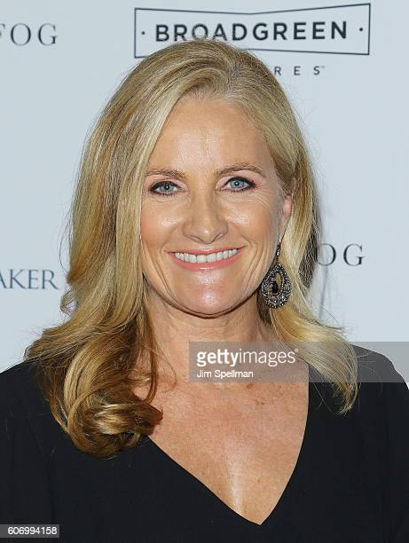 News anchor Alex Witt attends the 'The Dressmaker' New York screening at Florence Gould Hall Theater on September 16 2016 in New York City