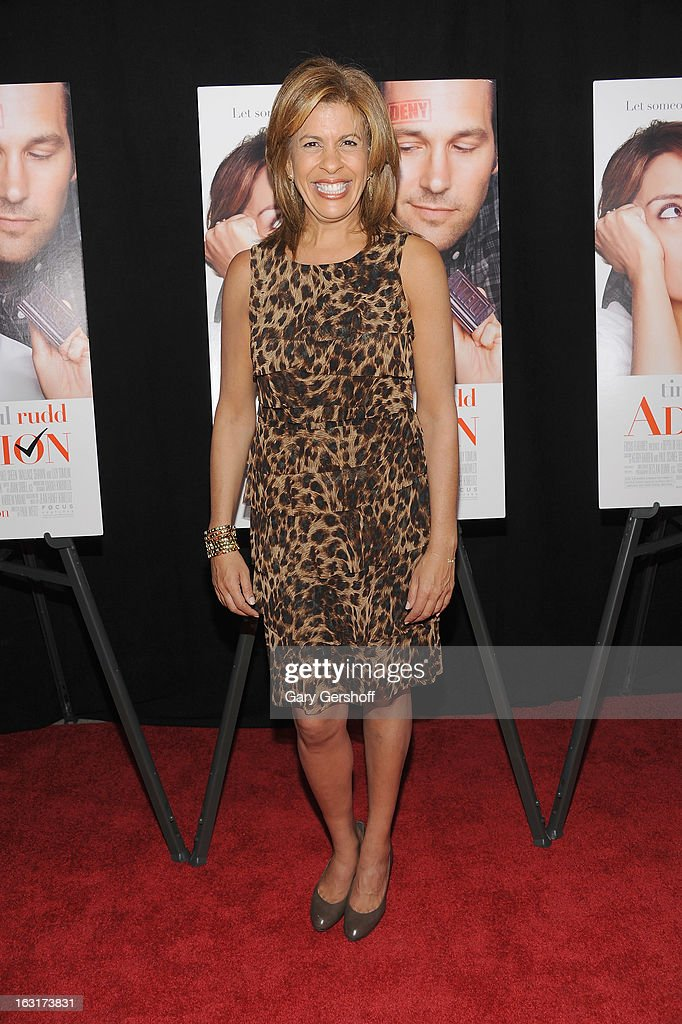 TV news anchor and host <a gi-track='captionPersonalityLinkClicked' href=/galleries/search?phrase=Hoda+Kotb&family=editorial&specificpeople=2338013 ng-click='$event.stopPropagation()'>Hoda Kotb</a> attends the 'Admission' New York premiere at AMC Loews Lincoln Square 13 on March 5, 2013 in New York City.
