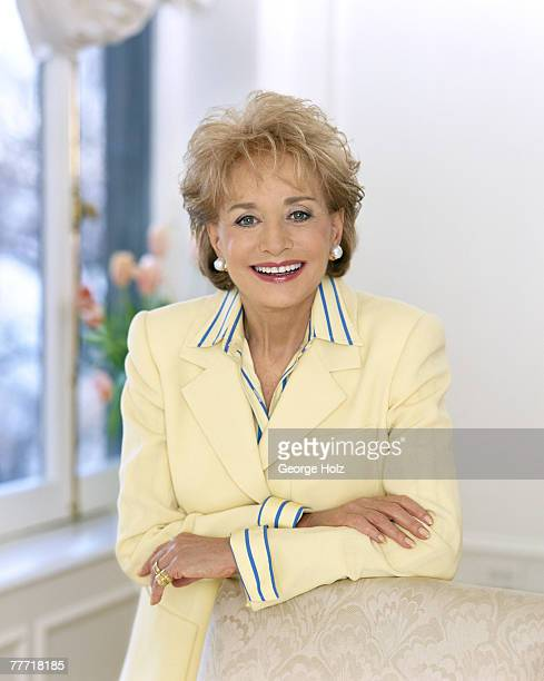News anchor Barbara Walters is photographed for Ladies Home Journal on December 16 1997 in New York City