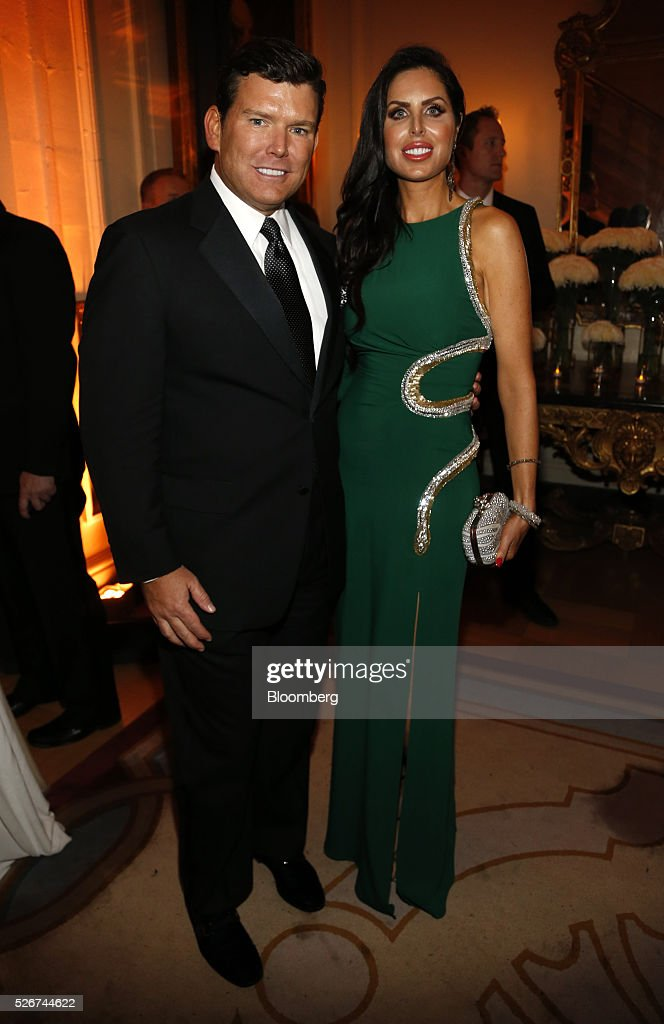 News anchor Bret Baier, left, and Amy Baier attend the Bloomberg Vanity Fair White House Correspondents' Association (WHCA) dinner afterparty in Washington, D.C., U.S., on Saturday, April 30, 2016. The 102nd WHCA raises money for scholarships and honors the recipients of the organization's journalism awards. Photographer: Andrew Harrer/Bloomberg via Getty Images