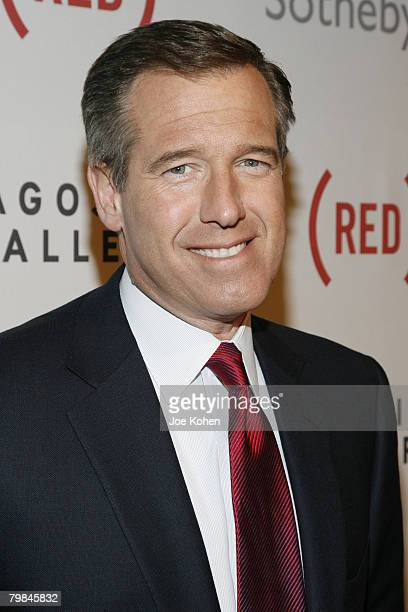 News anchor Brian Williams attends The Auction to raise money to fight AIDS in Africa at Sotheby's on February 14 2008 in New York City