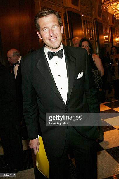 NBC News anchor Brian Williams attends The Museum of Television and Radio's annual gala this year honoring NBC News anchor Tom Brokaw on February 19...