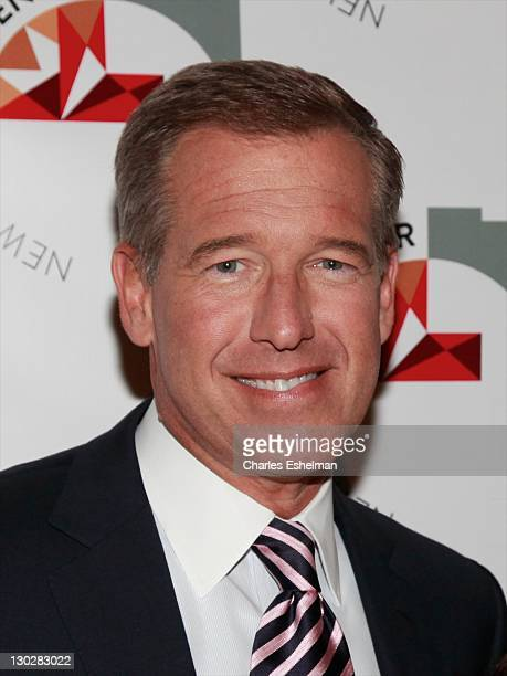 News anchor Brian Williams attends the New York City Center reopening gala at Cipriani 42nd Street on October 25 2011 in New York City