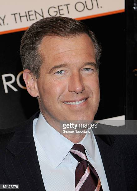 News anchor Brian Williams attends the New York premiere of 'Duplicity' at Clearview Cinema's Ziegfeld Theater on March 16 2009 in New York City
