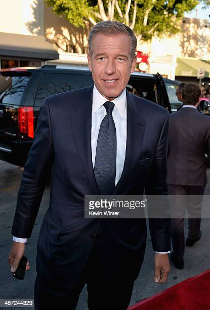 News anchor Brian Williams attends Universal Pictures' 'Neighbors' premiere at Regency Village Theatre on April 28 2014 in Westwood California