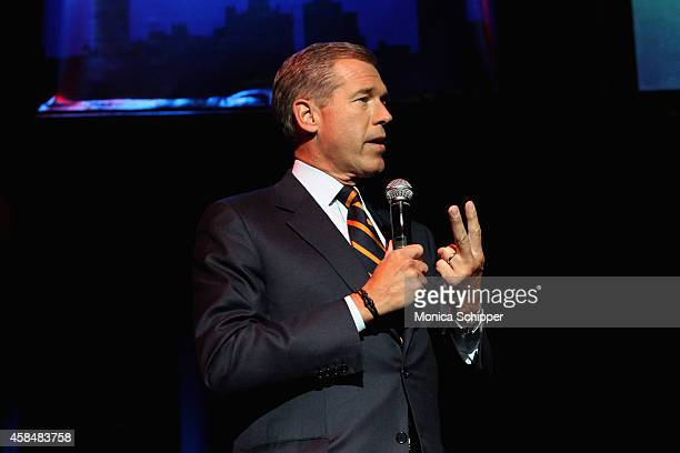 News Anchor Brian Williams speaks onstage at The New York Comedy Festival and The Bob Woodruff Foundation present the 8th Annual Stand Up For Heroes...