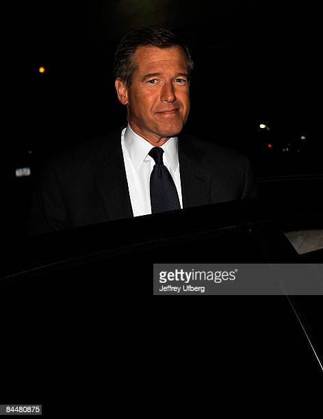 News anchor Brian Williams visits 'Late Show with David Letterman' at the Ed Sullivan Theater on January 26 2009 in New York City