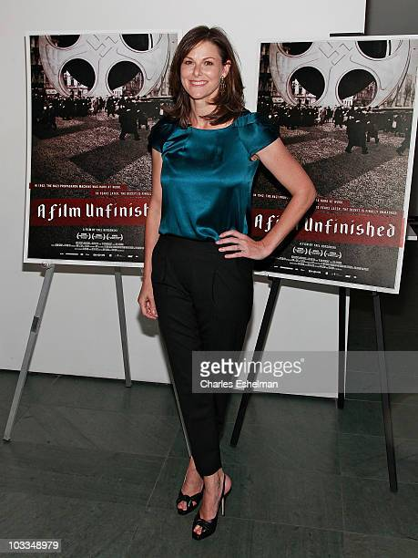 CNN news anchor Campbell Brown attends the premiere of 'A Film Unfinished' at MOMA Celeste Bartos Theater on August 11 2010 in New York City