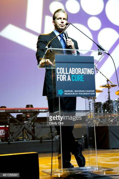 News anchor Chris Wragge speaks on stage at Collaborating For A Cure 16th annual benefit dinner and auction at Park Avenue Armory on November 21 2013...