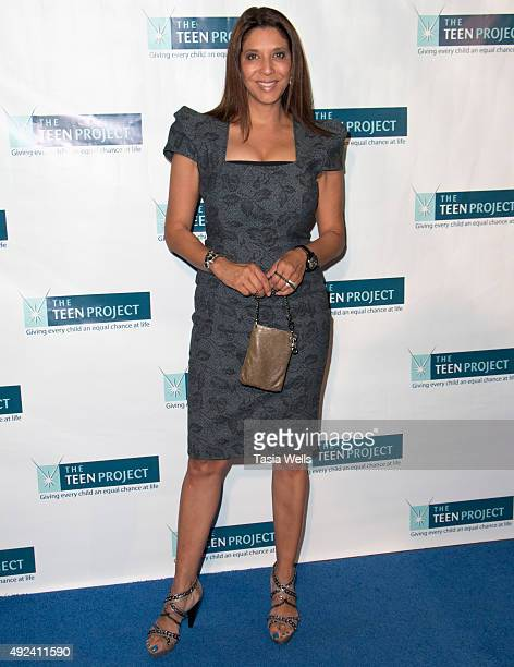 News anchor Christine Devine arrives at The Teen Project's Hollywood Red Carpet Event at TCL Chinese 6 Theatres on October 12 2015 in Hollywood...