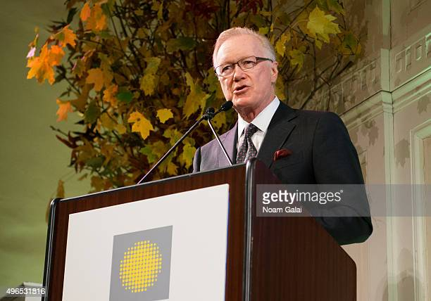 News Anchor Chuck Scarborough speaks at the 2015 Hope For Depression Research Foundation luncheon at 583 Park Avenue on November 10 2015 in New York...