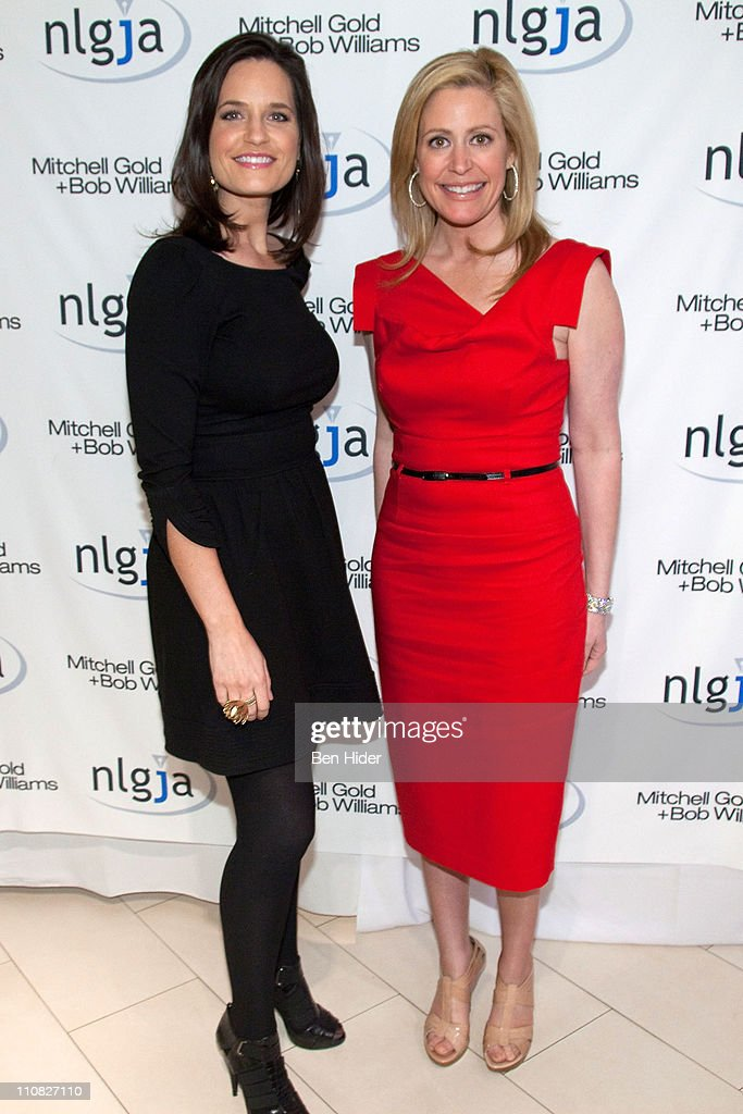 MSNBC news anchor Contessa Brewer and CNBC news anchor Melissa Francis attends the National Lesbian & gay Journalists Association 16th Annual New York benefit at Mitchell Gold & Bob Williams SoHo Store on March 24, 2011 in New York City.