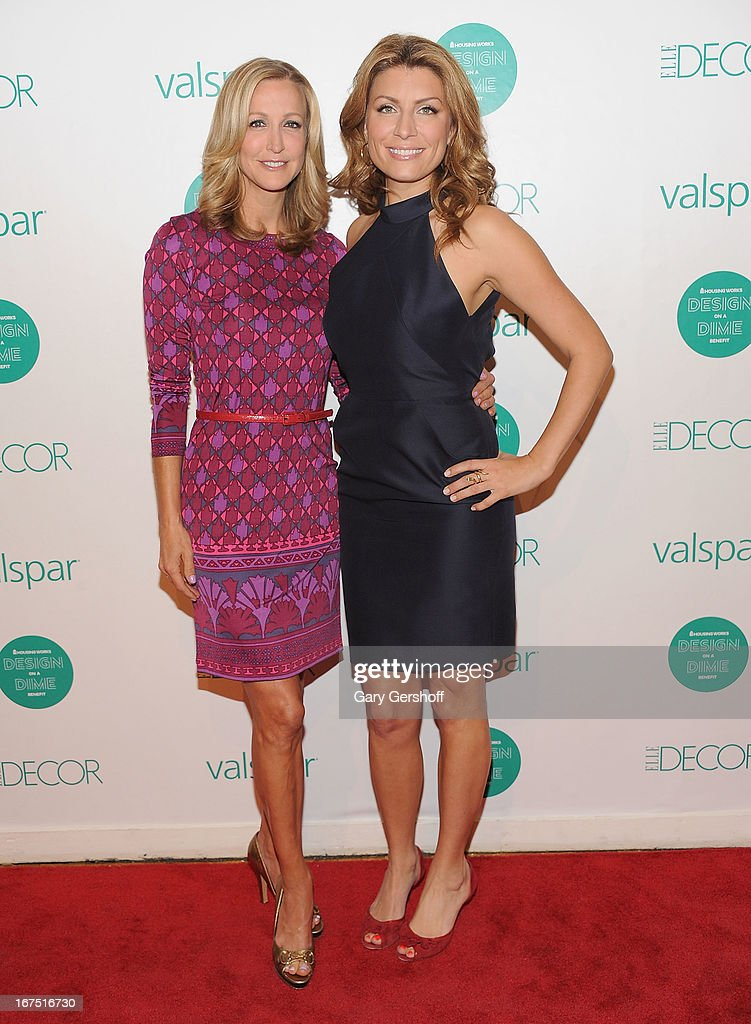 News anchor & correspondent Lara Spencer (L) and TV personality Genevieve Gorder attend Housing Works 9th Annual Design On A Dime Benefit at Metropolitan Pavilion on April 25, 2013 in New York City.
