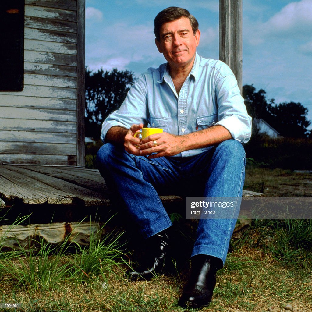 News Anchor Dan Rather photographed on September 16, 1991 in Winchester, TX.