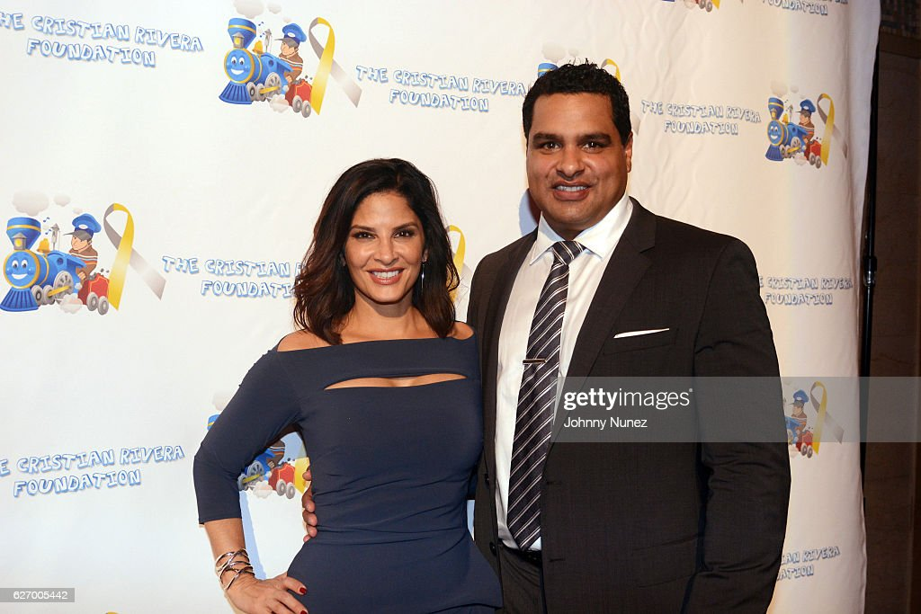 News anchor Darlene Rodriguez and David Rodriguez attend the 8th Annual Christian Rivera Foundation Celebrity Fundraiser at Broad Street Ballroom on November 30, 2016 in New York City.