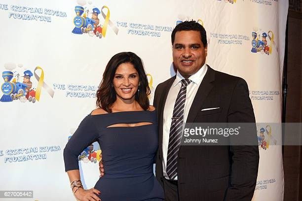 WNBC News anchor Darlene Rodriguez and David Rodriguez attend the 8th Annual Christian Rivera Foundation Celebrity Fundraiser at Broad Street...