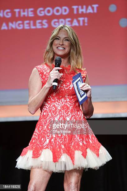 News anchor Dorothy Luceyattends the Good News Foundation's Feel Good event of the year honoring Maria Shriver with the Lifetime Achievement Award at...
