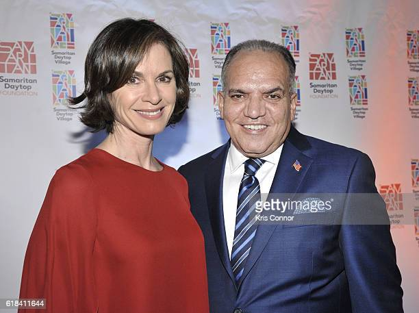 News Anchor Elizabeth Vargas and Samaritan Daytop Village CEO President Tino Hernandez attend the 2016 Samaritan Daytop Foundation Gala at Tribeca...