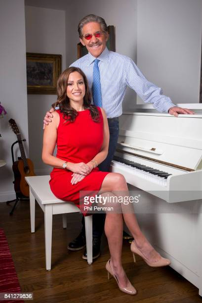 News anchor Geraldo Rivera and wife Erica Michelle Levy are photographed for Closer Weekly Magazine on April 15 2016 at home in New York City