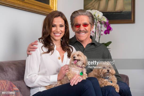 News anchor Geraldo Rivera and wife Erica Michelle Levy are photographed with their Maltipoo duo Lucy and Ricky for Closer Weekly Magazine on April...