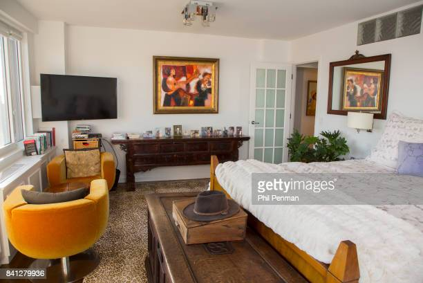 News anchor Geraldo Rivera's home is photographed for Closer Weekly Magazine on April 15 2016 in New York City Bedroom