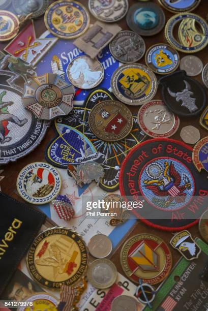 News anchor Geraldo Rivera's home is photographed for Closer Weekly Magazine on April 15 2016 in New York City Rivera's medals and memorabilia