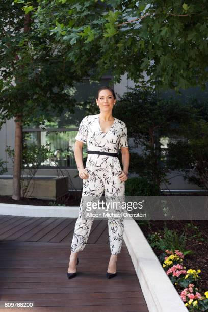 News anchor Ginger Zee is photographed for People Magazine on June 6 2016 in New York City PUBLISHED IMAGE