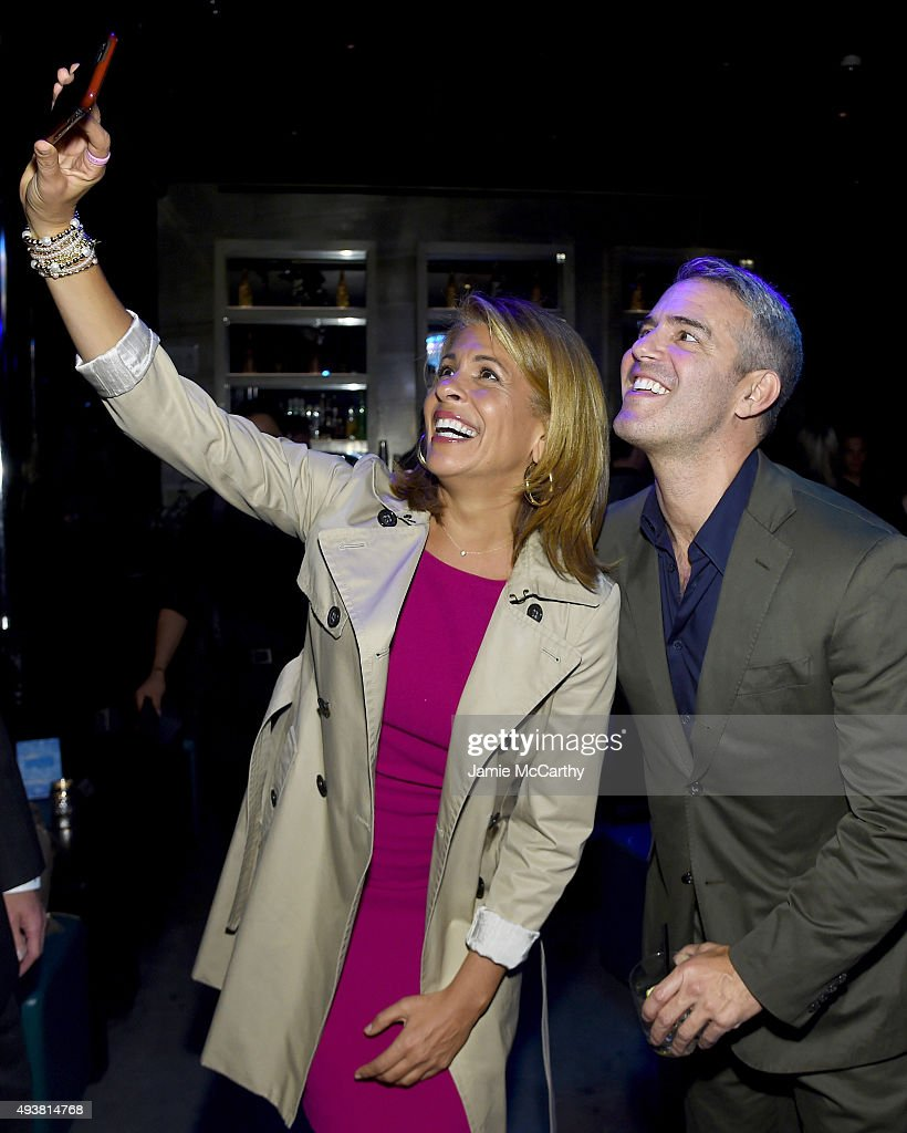 News Anchor Hoda Kotb and Andy Cohen attend SiriusXM celebration launch of Cohen's New Exclusive SiriusXM Channel Radio Andy at PHD Rooftop Lounge at...
