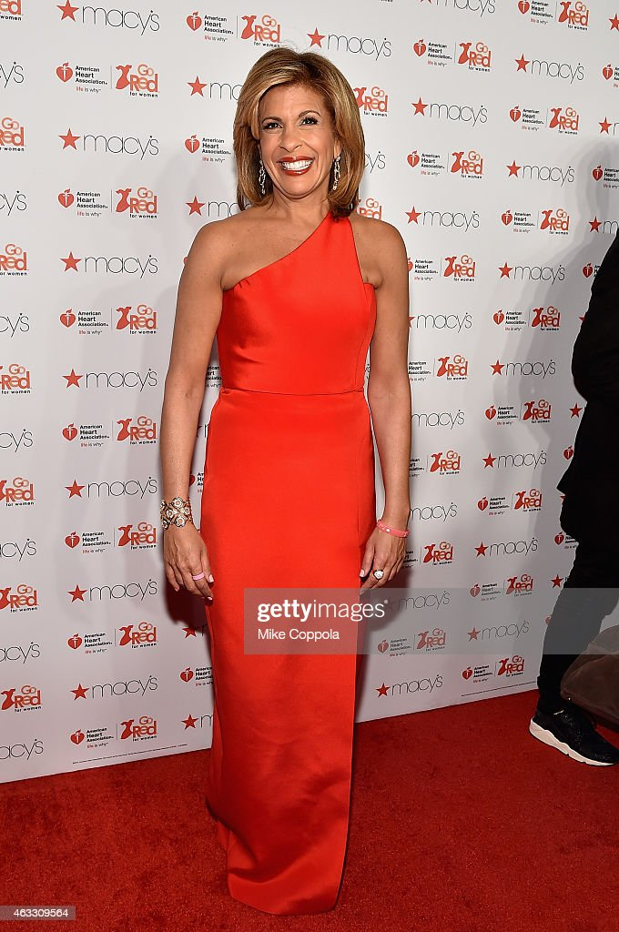 News anchor Hoda Kotb attends the Go Red For Women Red Dress Collection 2015 presented by Macy's fashion show during MercedesBenz Fashion Week Fall...