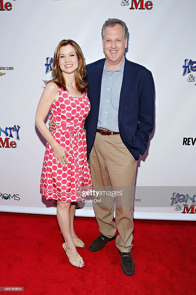News anchor Jodi Applegate and Yankees broadcaster Michael Kay attend the 'Henry & Me' New York Premiere at Ziegfeld Theatre on August 18, 2014 in New York City.