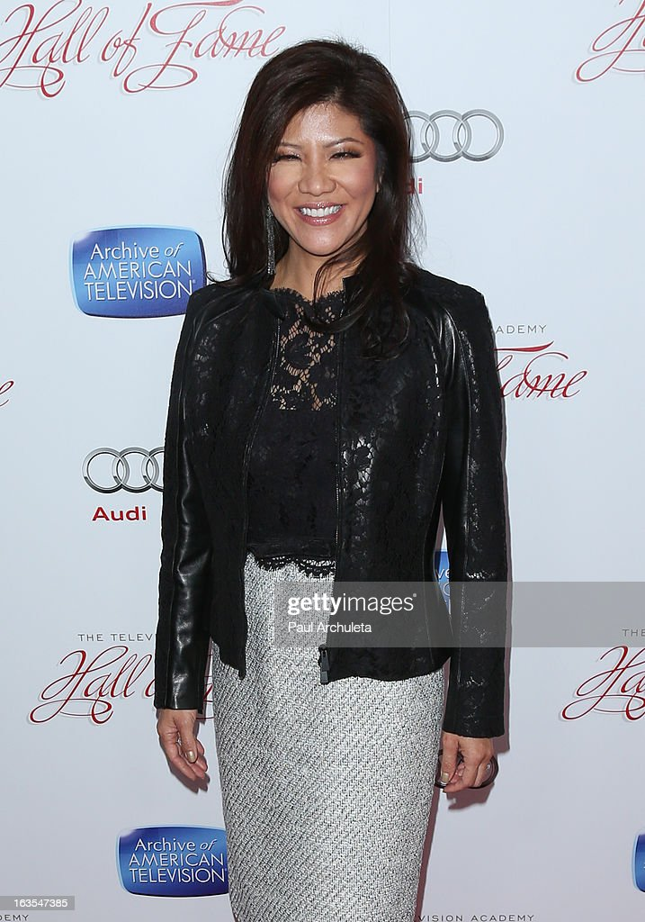 TV News Anchor Julie Chen attends the Academy Of Television Arts & Sciences 22nd annual Hall Of Fame induction gala at The Beverly Hilton Hotel on March 11, 2013 in Beverly Hills, California.