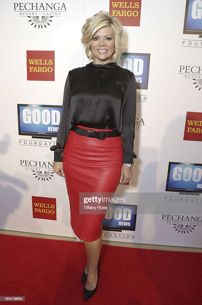 News anchor Leslie Miller attends the Good News Foundation's Feel Good event of the year honoring Maria Shriver with the Lifetime Achievement Award at The Beverly Hilton Hotel on October 13, 2013 in Beverly Hills, California.