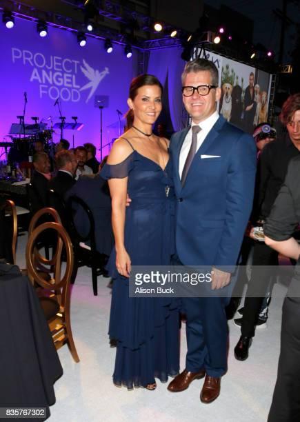KTLA5 news anchor Lu Parker and Vice president/news director at KTLA 5 News Jason Ball attend Project Angel Food's 2017 Angel Awards on August 19...