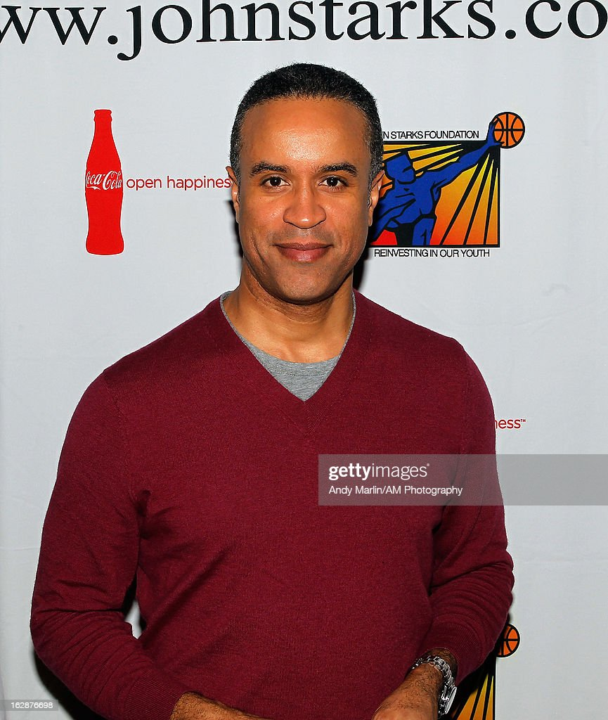 News anchor Maurice DuBois poses for a photo during the John Starks Foundation Celebrity Bowling Tournament on February 25, 2013 in New York City.