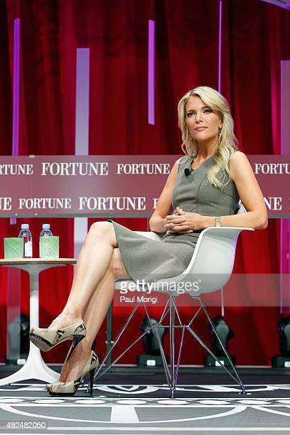 News anchor Megyn Kelly speaks onstage during Fortune's Most Powerful Women Summit Day 2 at the Mandarin Oriental Hotel on October 13 2015 in...
