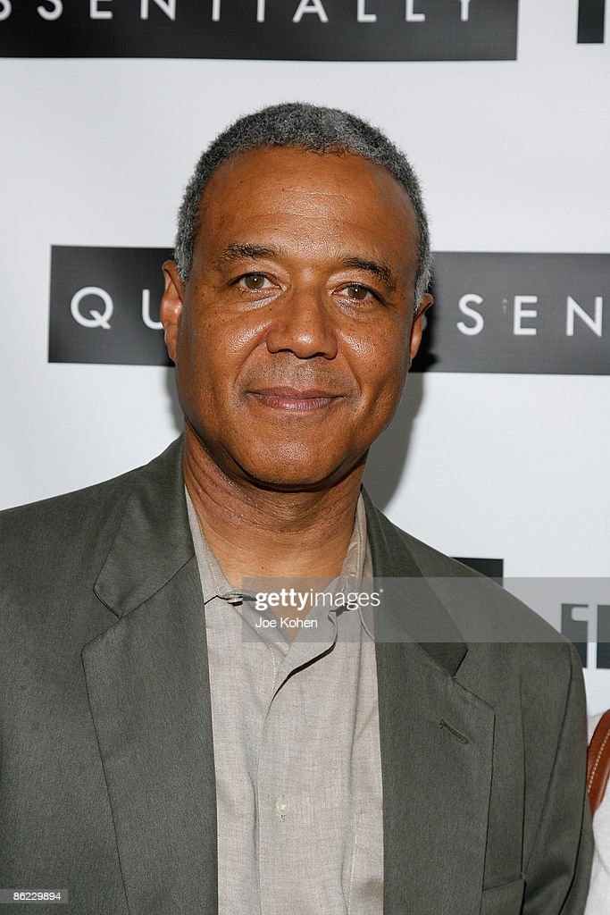 News anchor Ron Claiborne attends a screening of 'In The Loop' at the IFC Center on April 26, 2009 in New York City.