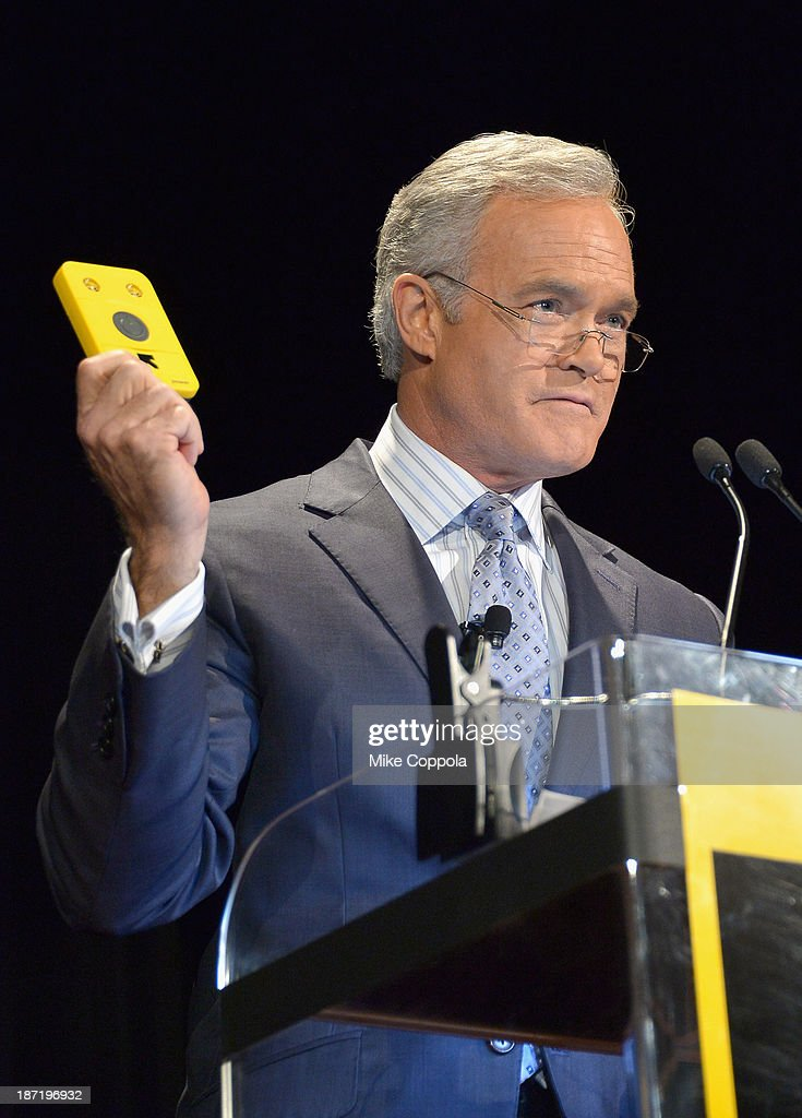 News anchor <a gi-track='captionPersonalityLinkClicked' href=/galleries/search?phrase=Scott+Pelley&family=editorial&specificpeople=5402652 ng-click='$event.stopPropagation()'>Scott Pelley</a> speaks onstage at the Annual Freedom Award Benefit hosted by the International Rescue Committee at the Waldorf-Astoria hotel on November 6, 2013 in New York City.