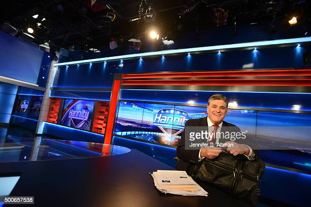 News anchor Sean Hannity is photographed for Los Angeles Times on October 26 2015 in New York City